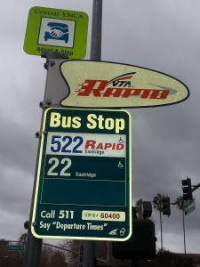 VTA_bus_stop_sign,_The_Alameda_&_Naglee,_San_Jose,_California